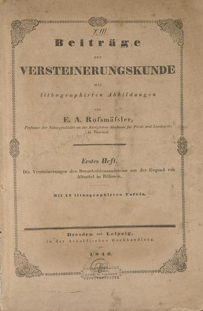 Beiträge zur Versteinerungskunde mit lithographirten Abbildungen /