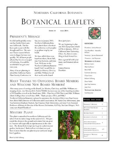 Botanical leaflets.
