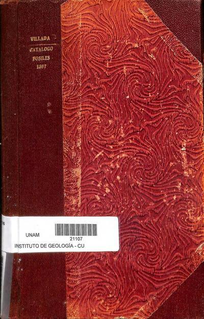 Catálogo de la colección de fósiles del Museo Nacional /