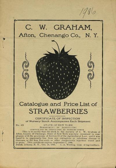 [Charles W. Graham materials]