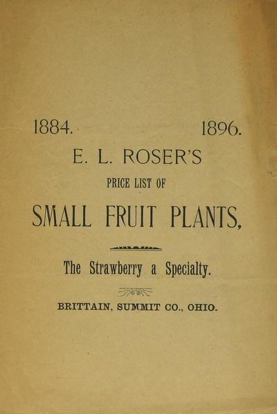 [E.L. Roser materials]