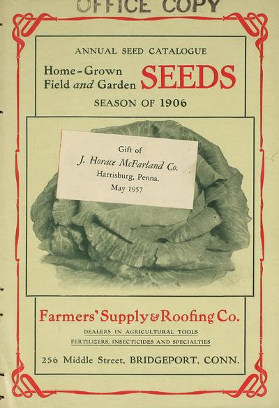 [Farmers' Supply & Roofing Co. materials]