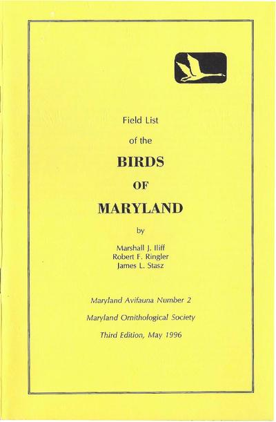 Field list of the birds of Maryland /