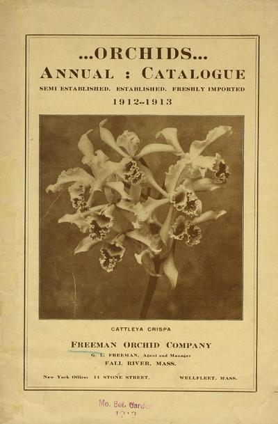 [Freeman Orchid Company materials]