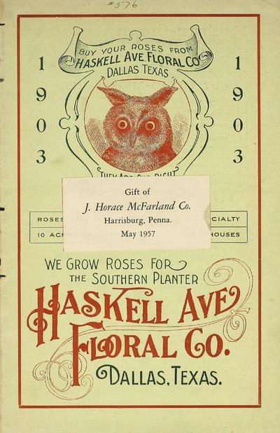 [Haskell Avenue Floral Co. materials]