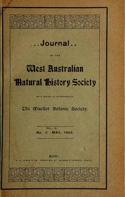 Journal of the West Australian Natural History Society