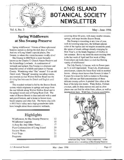 Quarterly newsletter.