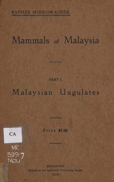 Malaysian ungulates