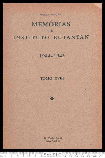 Memórias do Instituto Butantan