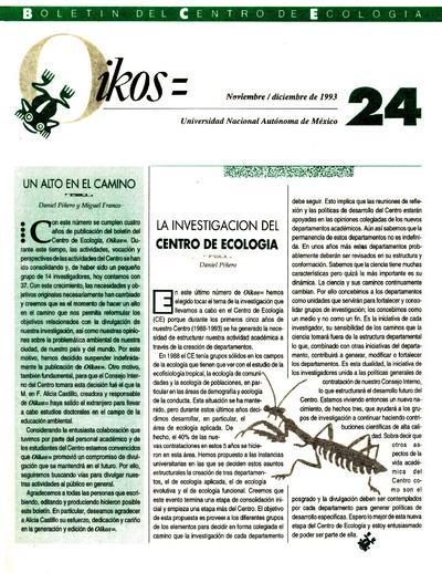 Oikos= boletín del Centro de Ecología [UNAM]