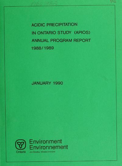 Annual program report.