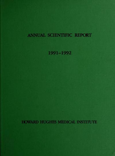 Annual scientific report /