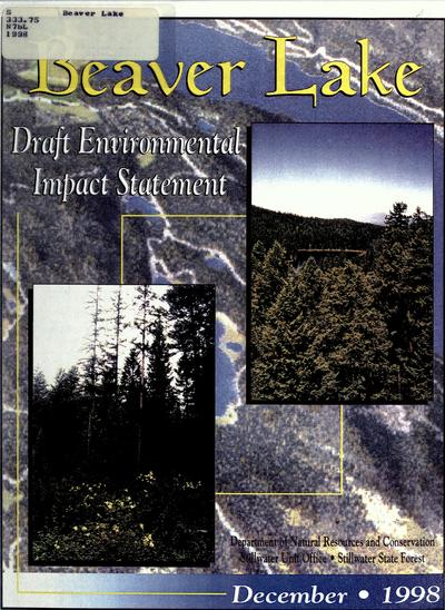 Beaver Lake : draft environmental impact statement.