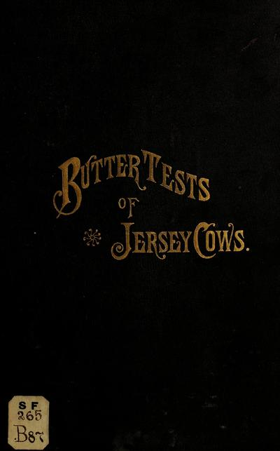Butter tests of Jerseys;