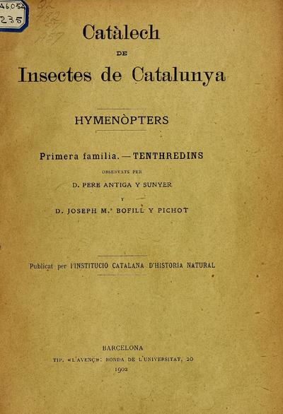 Catalog of insects of Catalonia