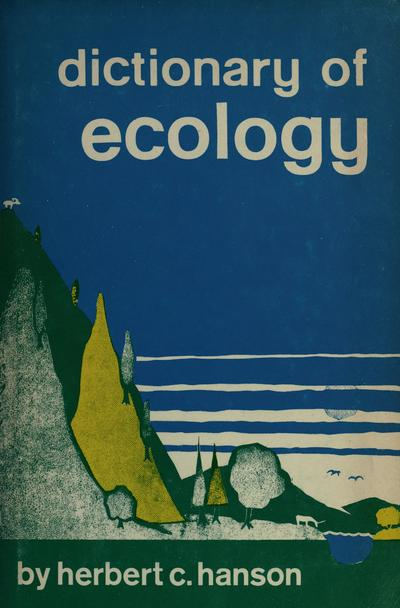 Dictionary of ecology.