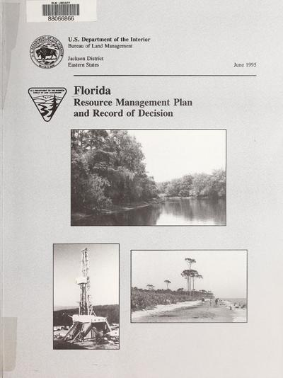 Record of decision : Florida resource management plan