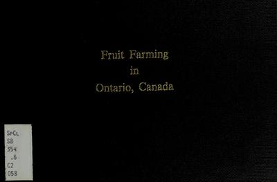 Fruit farming in Ontario, Canada /