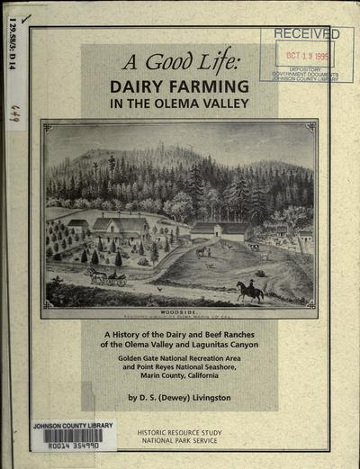 Dairy farming in the Olema Valley