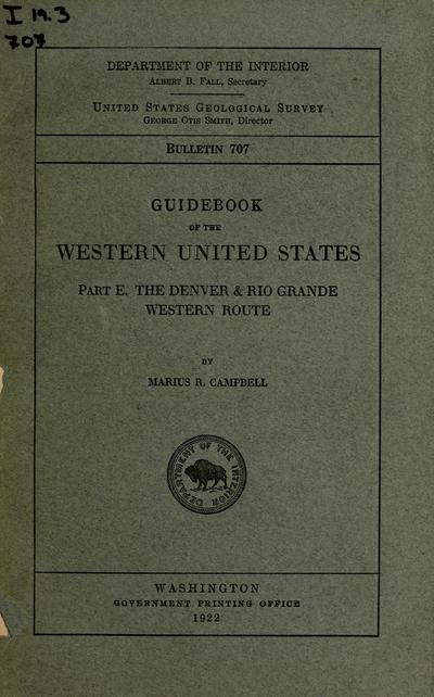 Guidebook of the western United States.