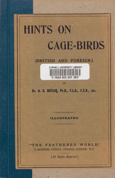 Hints on cage-birds (British and foreign)