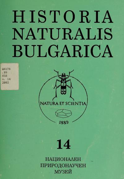Historia naturalis bulgarica.