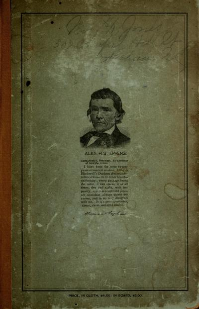 History of the town of Durham, N. C., embracing biographical sketches and engravings of leading business men, and a carefully compiled business directory of Durham, to which is annexed a compilation of useful information in relation to the cultivation, curing and manufacture of tobacco in North Carolina and Virginia, by Hiram V. Paul.