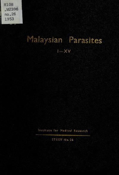 Malaysian parasites.