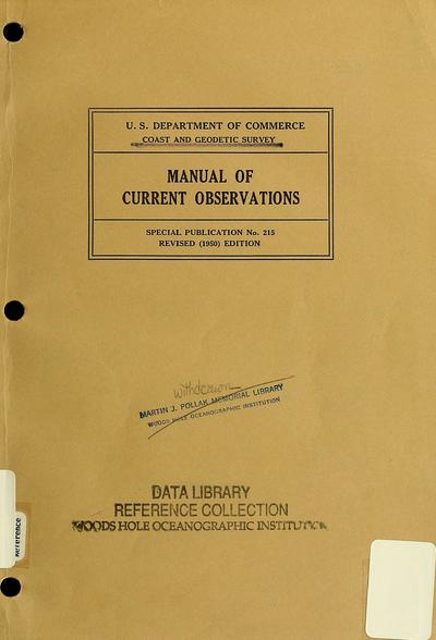 Manual of current observations.