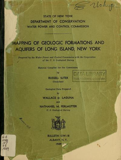 Mapping of geologic formations and aquifers of Long Island, New York.
