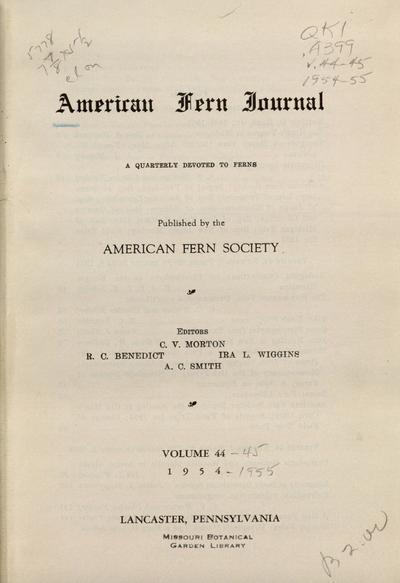 Amer. Fern J.