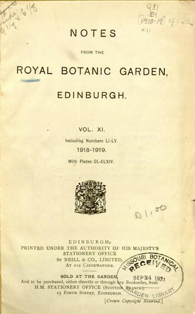 Notes Roy. Bot. Gard. Edinburgh