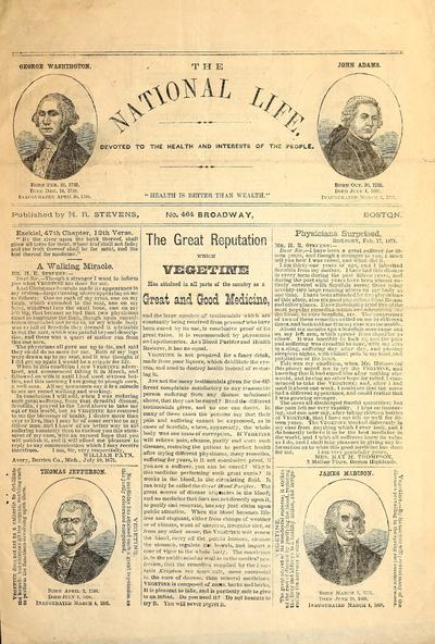 The national life : devoted to the health and interests of the people.