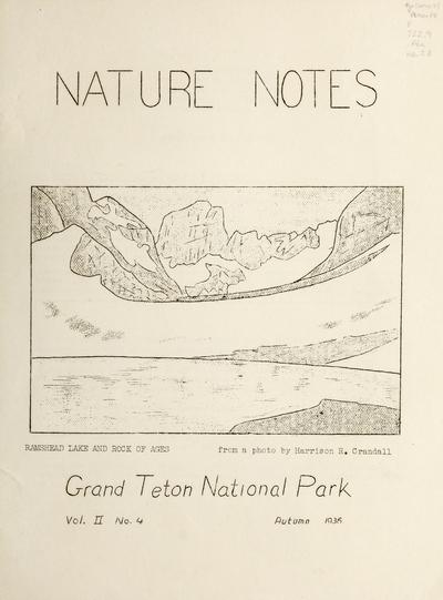 Nature notes (Moose, Wyo.)