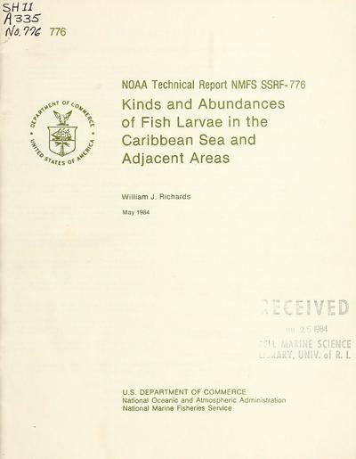 NOAA tech. rep. NMFS SSRF