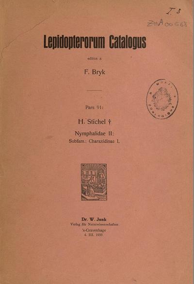 Lepidopterorum catalogus.