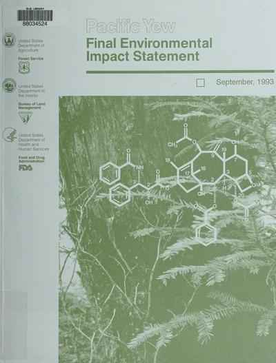 Pacific yew final environmental impact statement