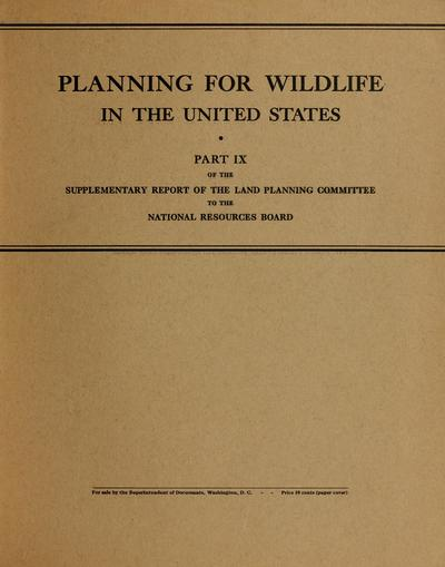 Planning for wildlife in the United States