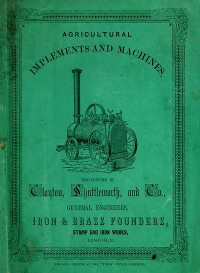 Agricultural implements and machines