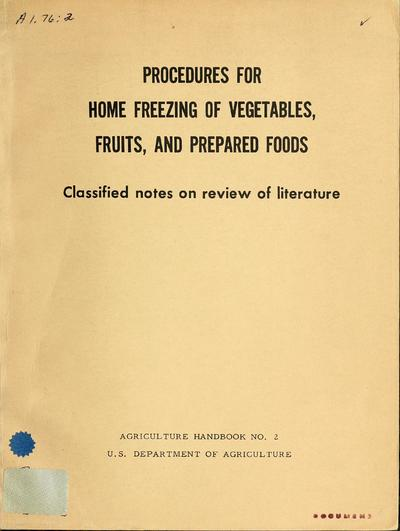 Agriculture handbook (United States. Department of Agriculture)