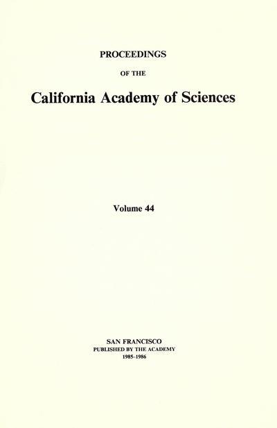 Proc. Calif. Acad. Sci. (1907)