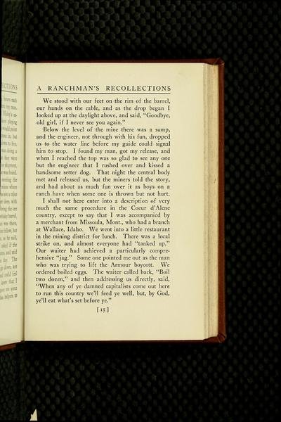 A ranchman's recollections; an autobiography in which unfamiliar facts bearing upon the origin of the cattle industry in the Southwest and of the American packing business are stated, and characteristic incidents recorded, by Frank S. Hastings ...