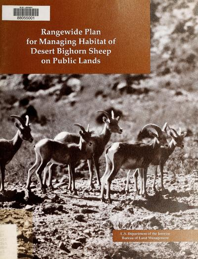 Rangewide plan for managing habitat of desert bighorn sheep on public lands /