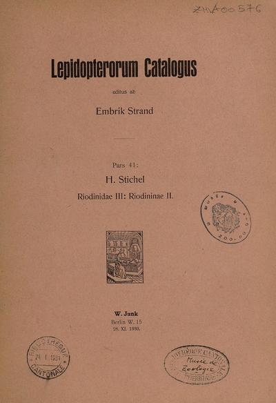 Riodinidae III : Riodininae II /