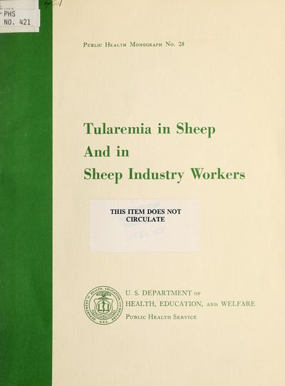 Tularemia in sheep and in sheep industry workers in western United States /