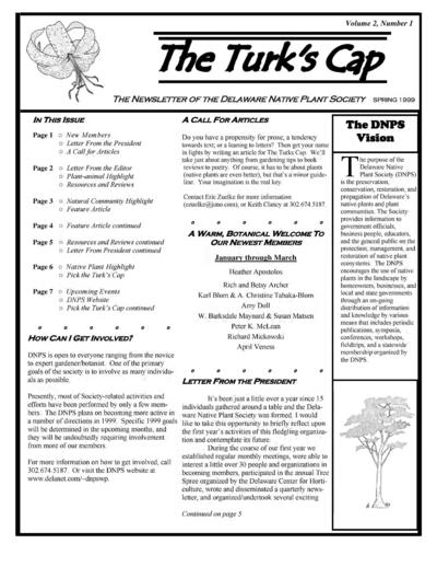 Newsletter of the Delaware Native Plant Society