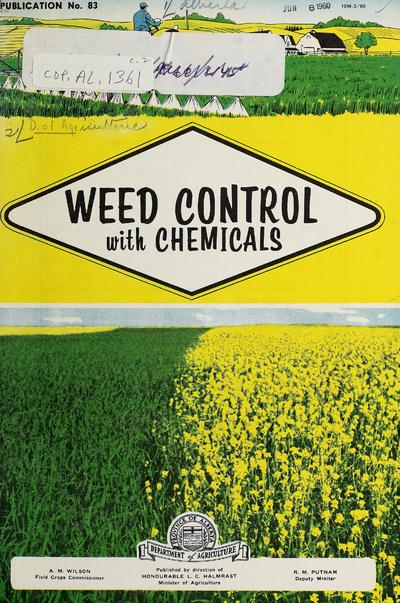 Weed control with chemicals.