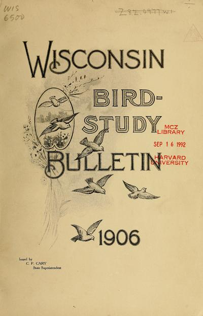 Wisconsin bird-study bulletin.