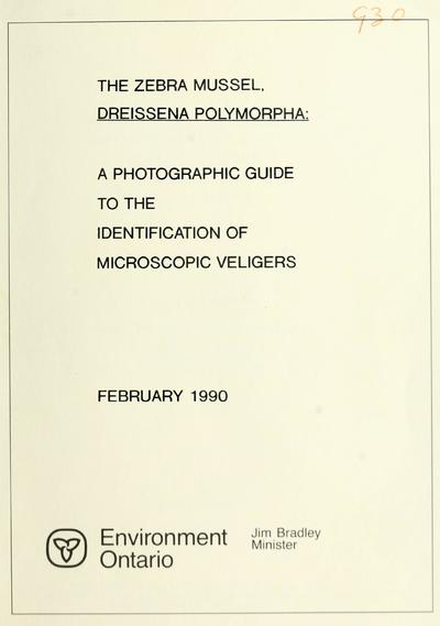 The zebra mussel, Dreissena polymorpha--a photographic guide to the identification of microscopic veligers / report and photographs prepared by Gordon J. Hopkins.