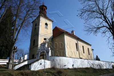 Doudleby, okr. ČB, kostel sv. Vincence, pohled na kostel od JZ.
